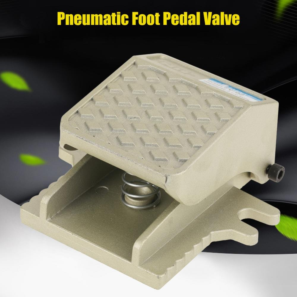 PT 1/4 2 Way 2 Position Threaded Foot Press Control Air Pneumatic Pedal Valve