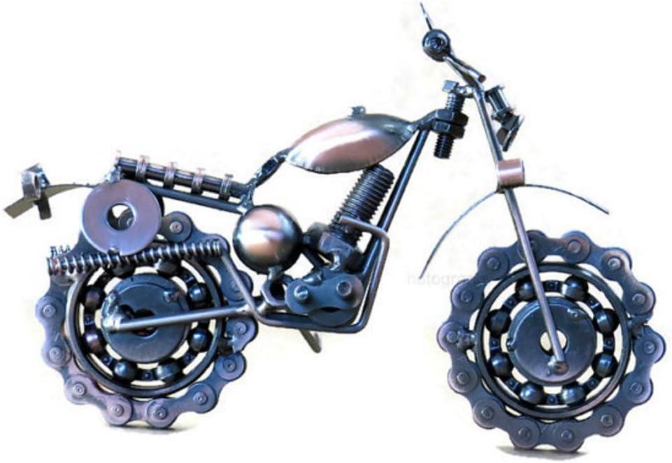 Handmade Motorcycle Model Collectible Sculpture Metal Motorbike Craft TH13