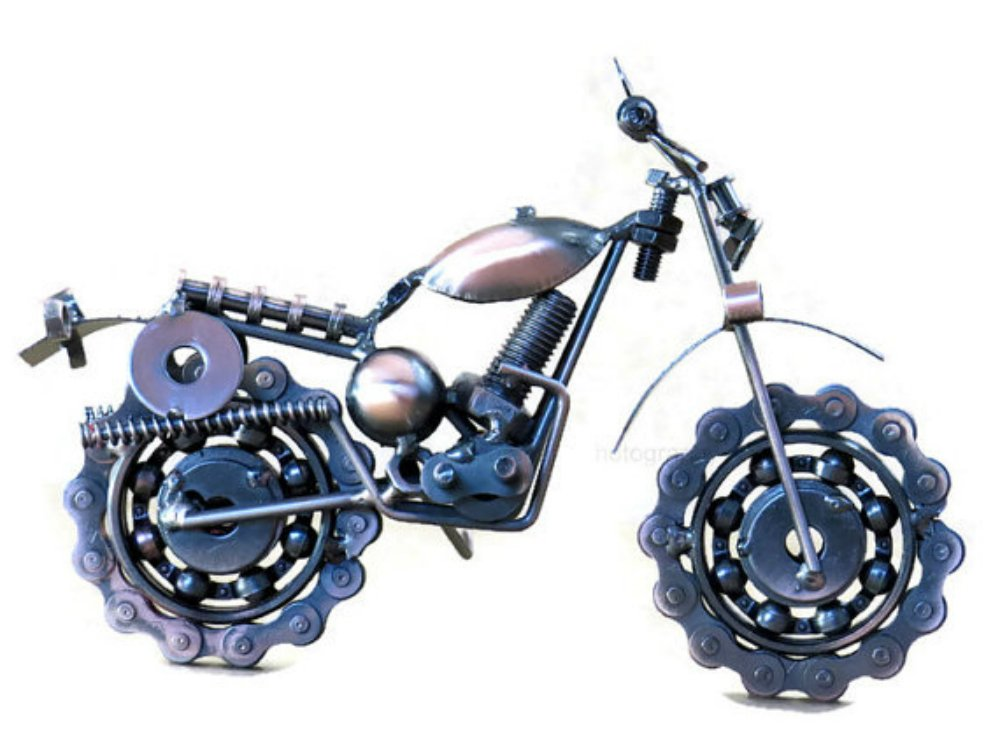 Dirt Devil Die Cast Metal Motorcycle Collectible Art-Handmade 7.5