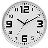 Reloj de pared silencioso - Diámetro 30 cm - Color BLANCO