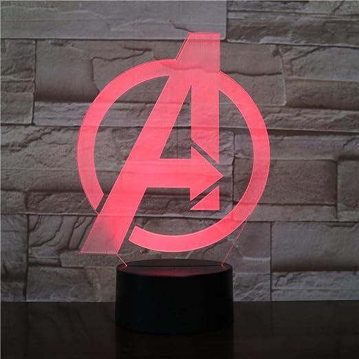 Marvel Figura Lámpara de proyección control remoto Lámpara ...