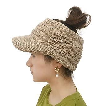 Moonuy Chapeau De Laine Tricote Pour Femmes Hollow Out Chapeaux Et