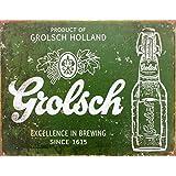 Grolsch Beer Tin Sign Green 30x42cm
