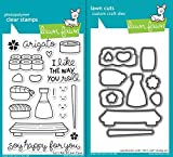 Lawn Fawn Lets Roll Clear Photopolymer Stamps Bundle with Coordinating Lawn Cuts Dies