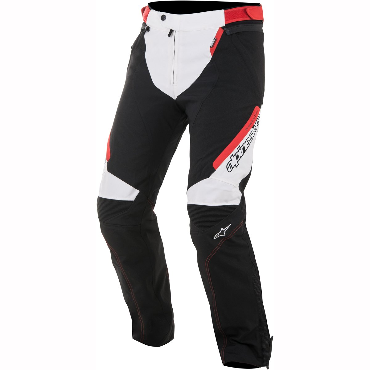 Alpinestars Raider Drystar All-Weather Sport Riding Textile Pants Black/White/Red LG