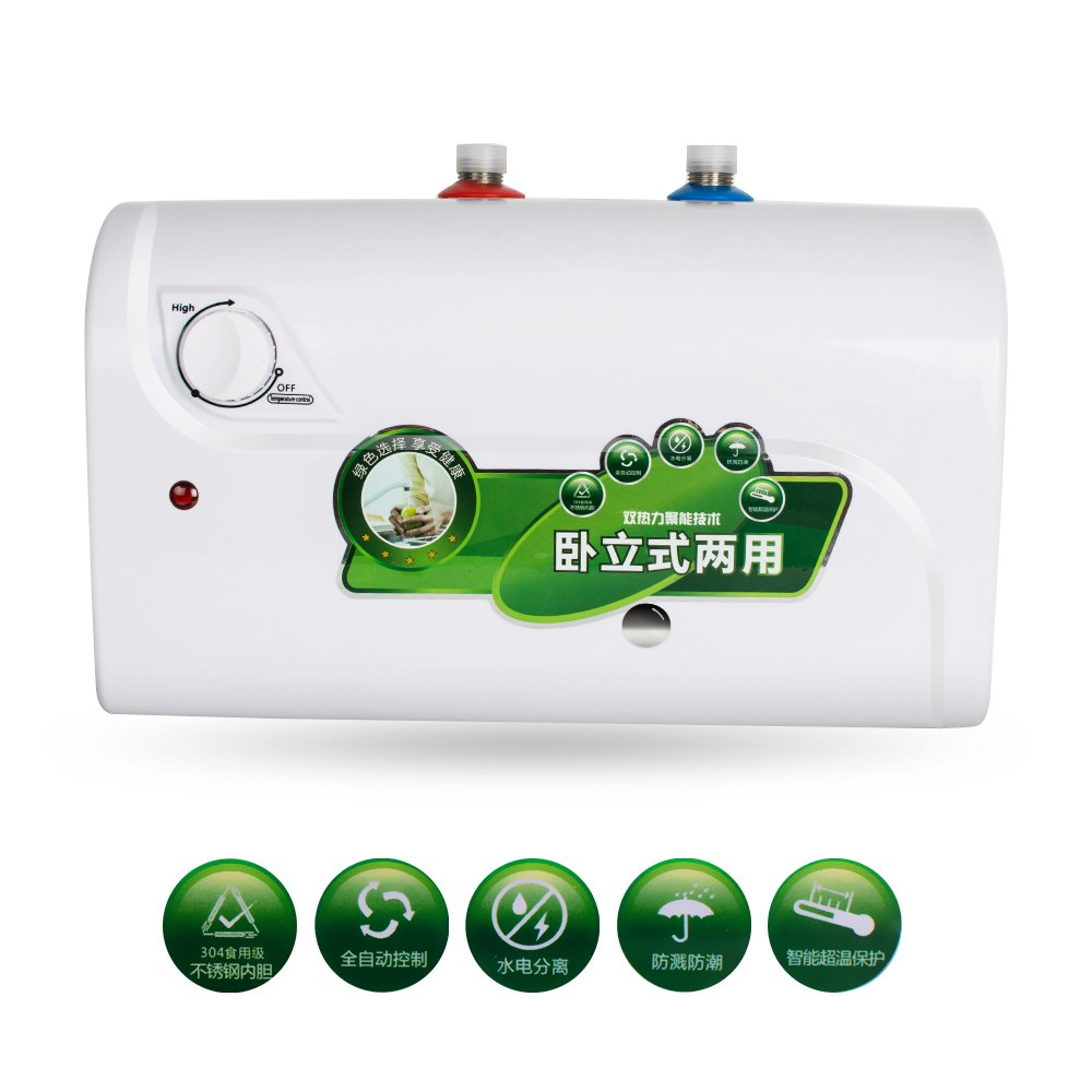 Denshine 1500W 8L Tank Electric Hot Water Heater Heating Household Bathroom Kitchen 30℃~65℃ - USA Shipping