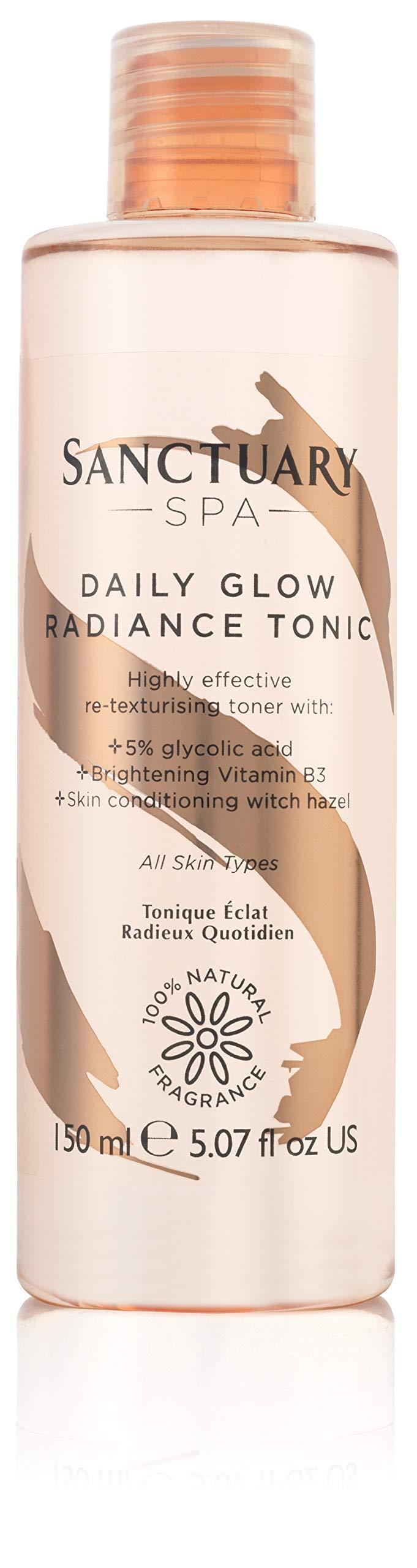 Sanctuary Spa Daily Glow Radiance Tonic Exfoliating Glycolic Toner, 150 ml