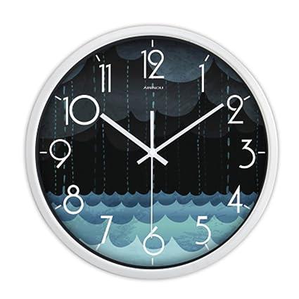 H&M Muro Silencioso Creativo Dormitorio Dormitorio Moderno Reloj Personality Reloj Simple Cuadrado Decorativo Reloj Colgante ,