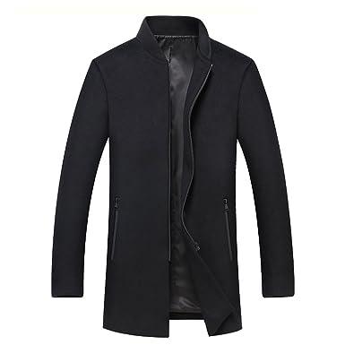Manteau Homme d hiver Laine Veste Chaud Slim fit Trench Coat Manche Longue  Blazer Outwear 08f06dab7313