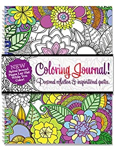 Adult coloring journal an adult coloring Coloring books for adults spiral bound
