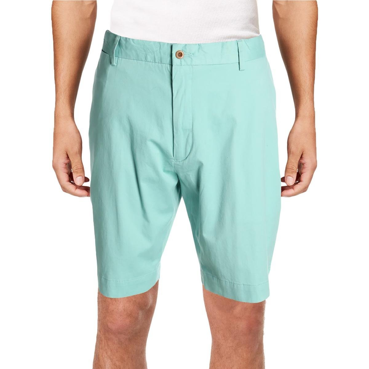 Polo Ralph Lauren Mens Classic-Fit Flat Front Casual Shorts Green 32 by Polo Ralph Lauren