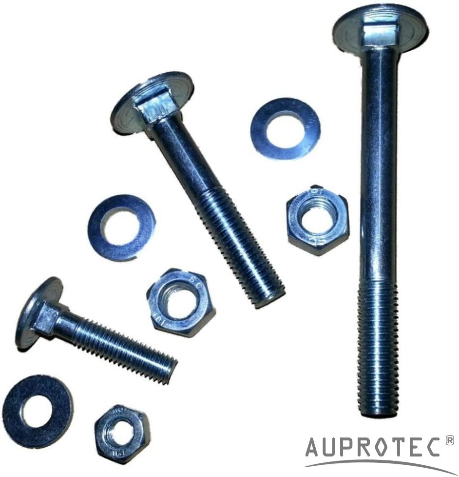 Boulons t/ête ronde collet carr/é M5-M12 Vis TRCC avec /Écrou et Rondelle en acier galvanis/é choix 50 x M8x70