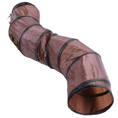 Everpert Túnel plegable en forma de S para gato, conejo, túnel, gato y