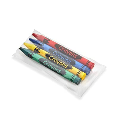 Crayon King 200 Bulk Crayons (50 Sets of 4-Packs in Cello) Restaurants, Party Favors, Birthdays, School Teachers & Kids Coloring Non-Toxic Crayons: Office Products