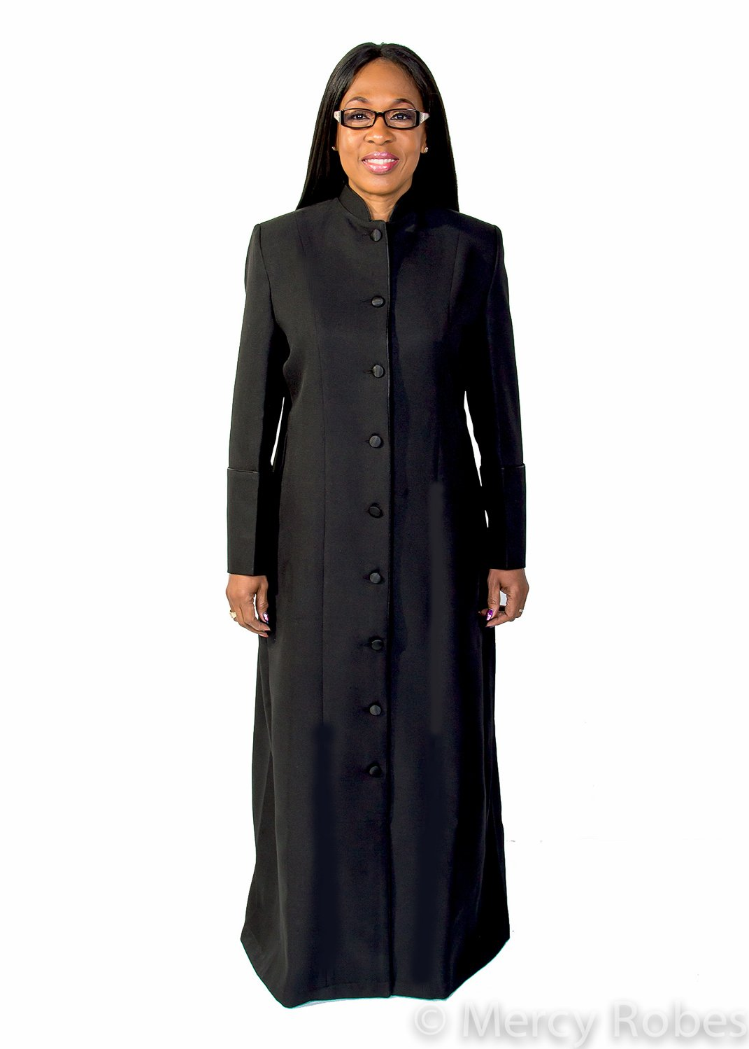 Ladies Robe LR111 (Black/Black) (22, Black)