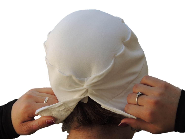 Sara Attali Design Tichel Volumizer & Anti Slip Headband Headcovering Headscarf White