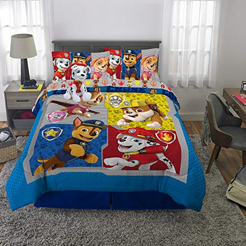 Franco Kids Bedding Super Soft Comforter with Sheets and Plush Cuddle Pillow Set, 6 Piece Full Size, Paw Patrol (Paw Patrol Full Size Bedding Set)