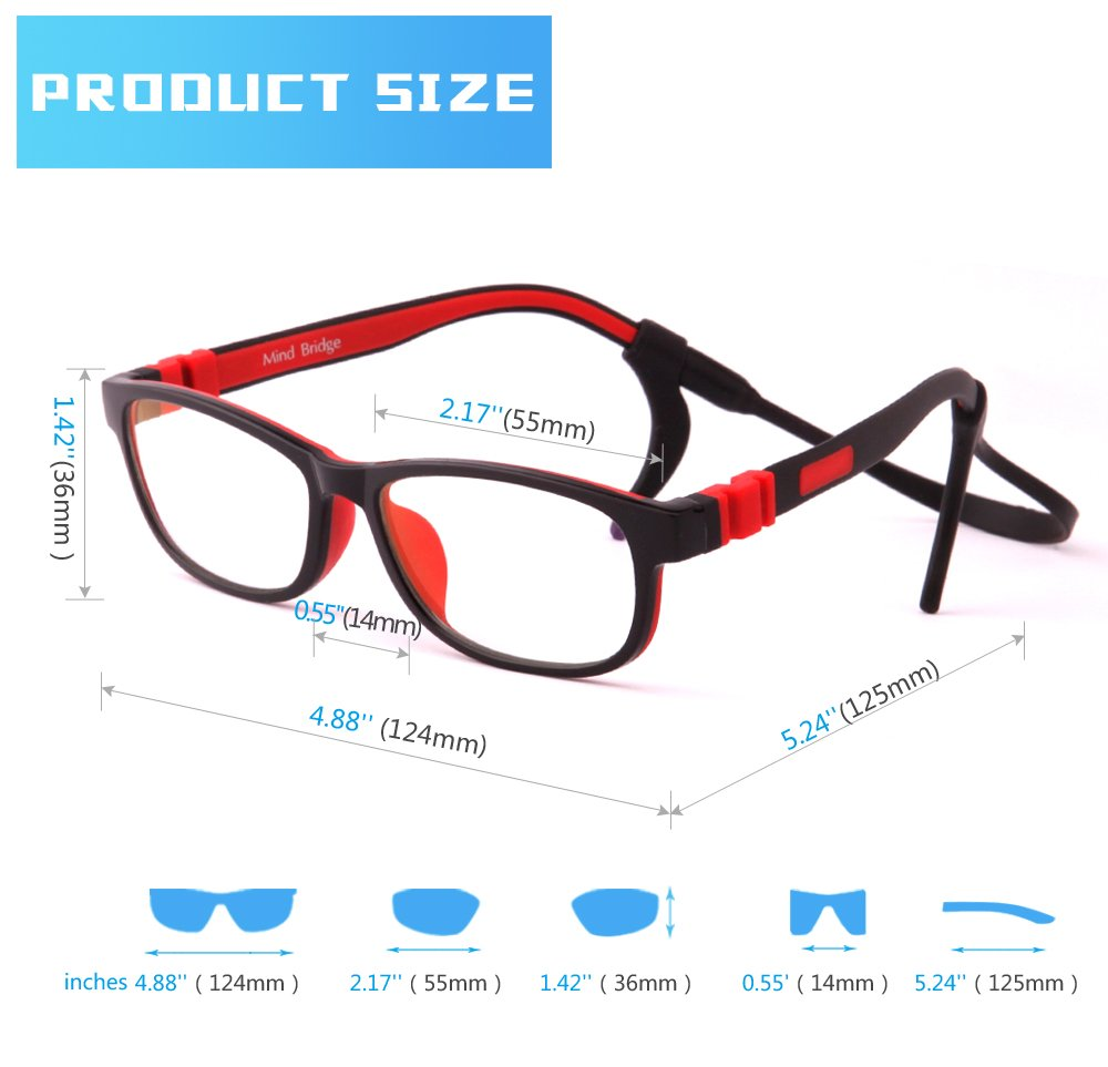 51becd044f5f Amazon.com  Mind Bridge Kids Computer Glasses Video Gaming Glasses - Anti  Harmful Blue Light UV400