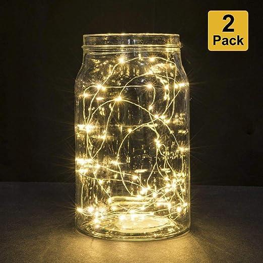 B-right Guirnalda Luces Led, 2x 3m 30 LED Cadena de Luces, Luces de Navidad la Decoración del Partido de la Boda del Navidad, Vacaciones, Fiesta, etc (Blanco Cálido): Amazon.es: Iluminación