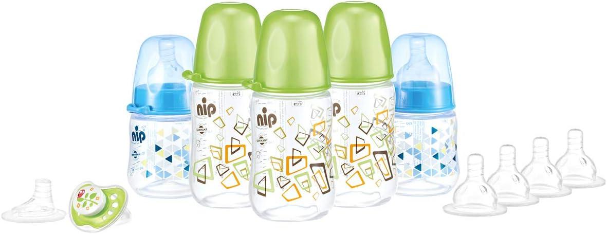 مجموعة زجاجات نيب للاولاد – ازرق/اخضر – 390188