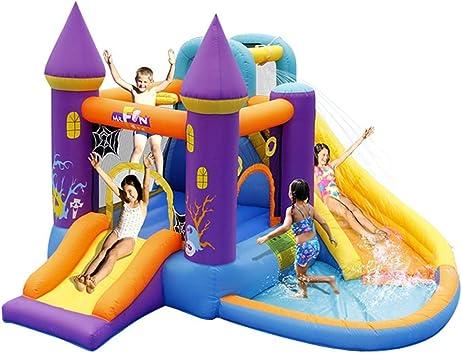 WJSW Castillos hinchables Castillo Inflable para niños Jardín de ...
