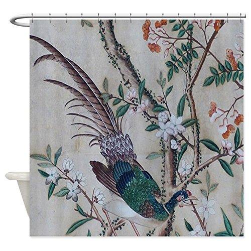 (CafePress - Asian pattern on wallpaper Shower Curtain - Decorative Fabric Shower Curtain (69
