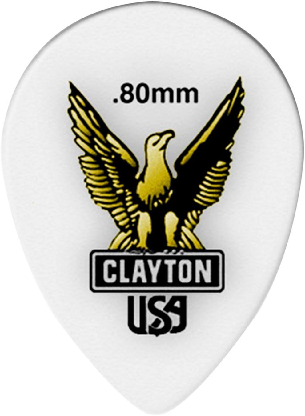 Clayton Acetal Small Teardrop Guitar Picks .80 mm 1 Dozen