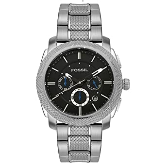 Fossil Mens Quartz Stainless Steel Dress Watch(Model: FS4436)