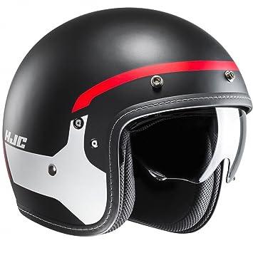 Casco Abierto Moto Hjc Fg-70 Modik Rojo-Negro (L , Negro)