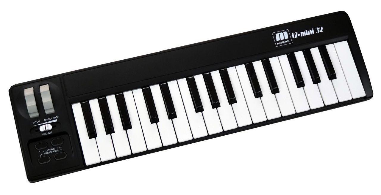 Miditech MIT-00170 i2 - Teclado mini de 32 teclas, color negro: Amazon.es: Instrumentos musicales