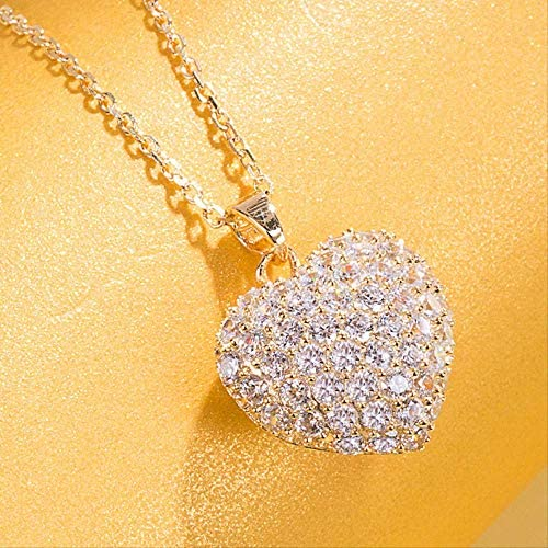 ZXS Regalo De Cumpleaños Collar Plateado En Oro Plateado Colgante Femenino Paddre Collarbone Chain Simple  SFvRD3