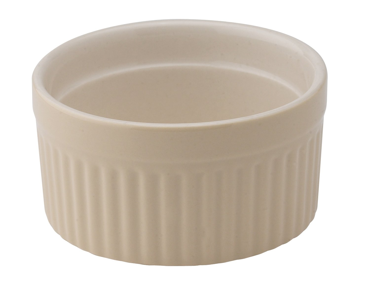 HIC Brands Ceramic 6-Ounce Souffle Dish, Wheat, Set of 6 HIC Brands that Cook 98005WT-HIC