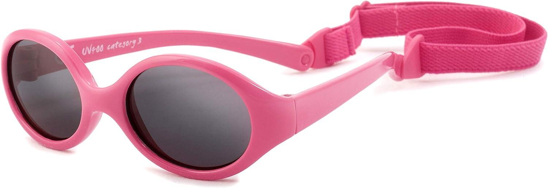 Kiddus Gafas de sol POLARIZADAS bebe para niños y niñas a partir de 6 meses. SUPER FLEXIBLES. Protección solar UV400. Seguras, confortables, muy resistentes. Con ESTUCHE protector. Baby Comfort