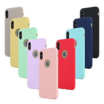 Leathlux 9X Funda Apple iPhone X, Carcasa iPhone XS Silicona TPU Gel Protector Flexible Cover para Apple iPhone XS/X 5.8