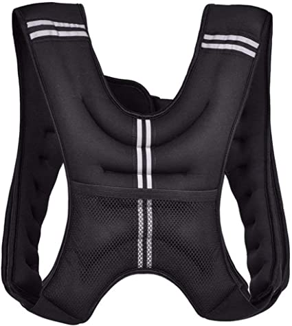 15 10 Neoprene Weighted Vest 20 lbs Body Weight Equipment for Cardio Workout