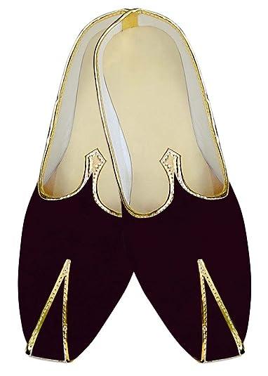 Mens Brown Velvet Wedding Shoes MJ015345