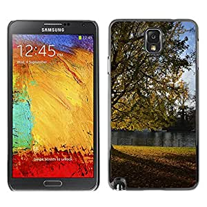 Hot Style Cell Phone PC Hard Case Cover // M00309349 Tree River Autumn Nature Landscape // Samsung Galaxy Note 3 III N9000 N9002 N9005