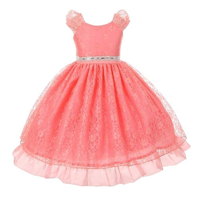 Kiki Kids Usa Vestido Para Niña Rosa Coral 4 Amazones