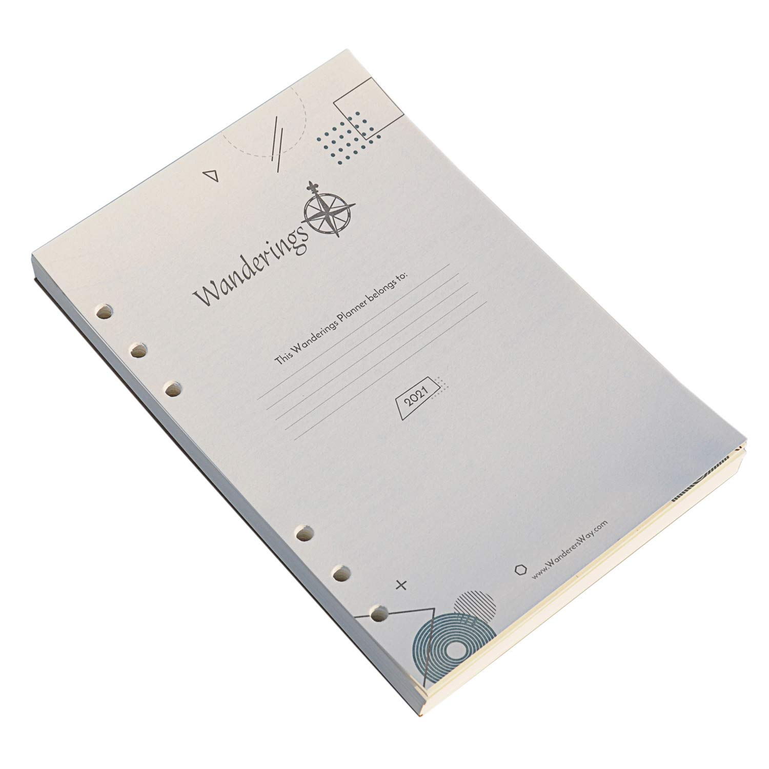 Jan 2021-Dec 2021 2021 Weekly /& Monthly Diary Refill 5-1//2 x 8-1//2 2021 Diary Refill A5 Diary Inserts Loose Leaf paper 6-Hole Punched Refill Paper 2021 with Eye-Catching Cover