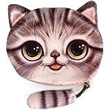 Amazon.com: TrendsGal Monedero con cara de gato, dibujo ...