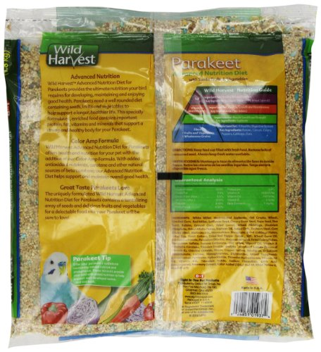 Wild Harvest Parakeet Advanced Nutrition Diet, 4-Pound Bag (A1937)