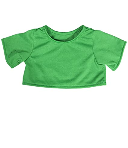 a24944a7683 Image Unavailable. Image not available for. Color  Green T-Shirt Outfit  Teddy Bear Clothes Fit ...