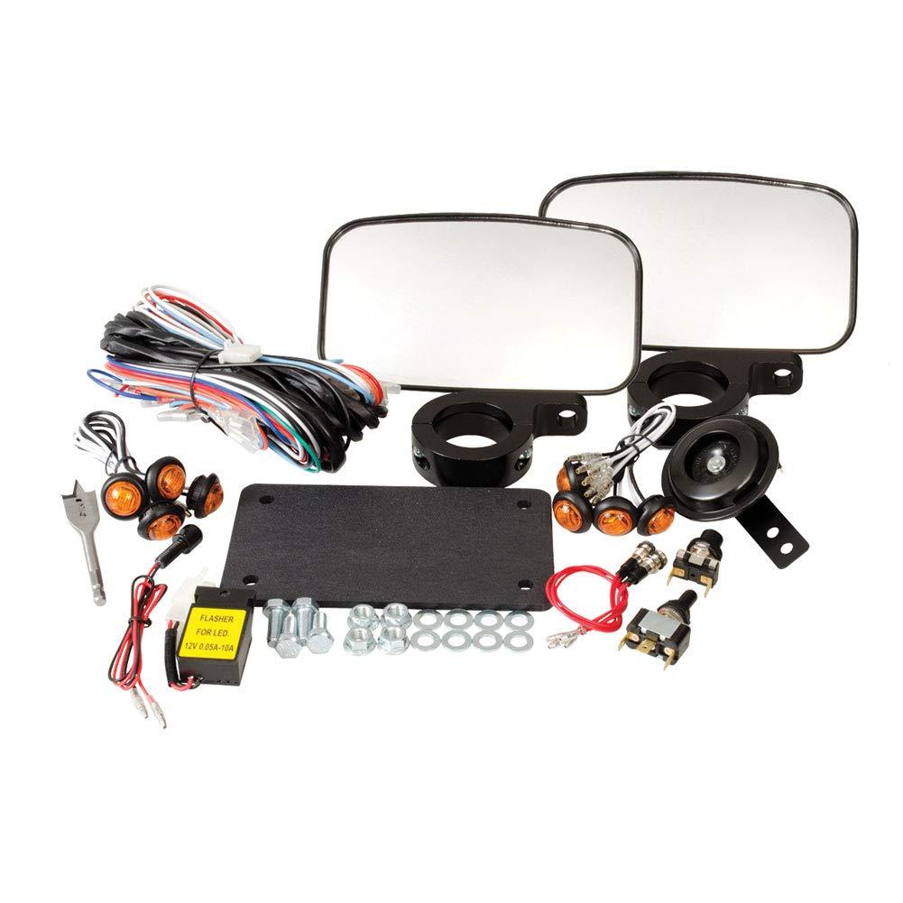 Tusk UTV Horn &信号キット – with mirrors – Fits : Kawasaki Mule 3010トランス4 x 4 2005 – 2007   B012H97VZI