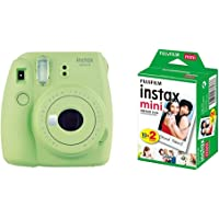 instax Mini 9 Camera - Lime Green + Film 20 Shot Pack