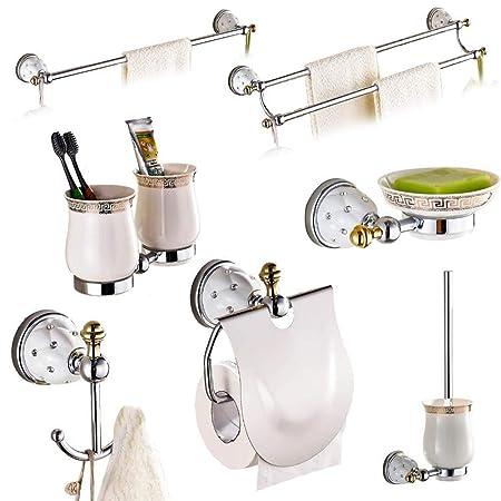 Vhvcx Modern Star Diamond Bathroom Accessories Sets Brass Bathroom