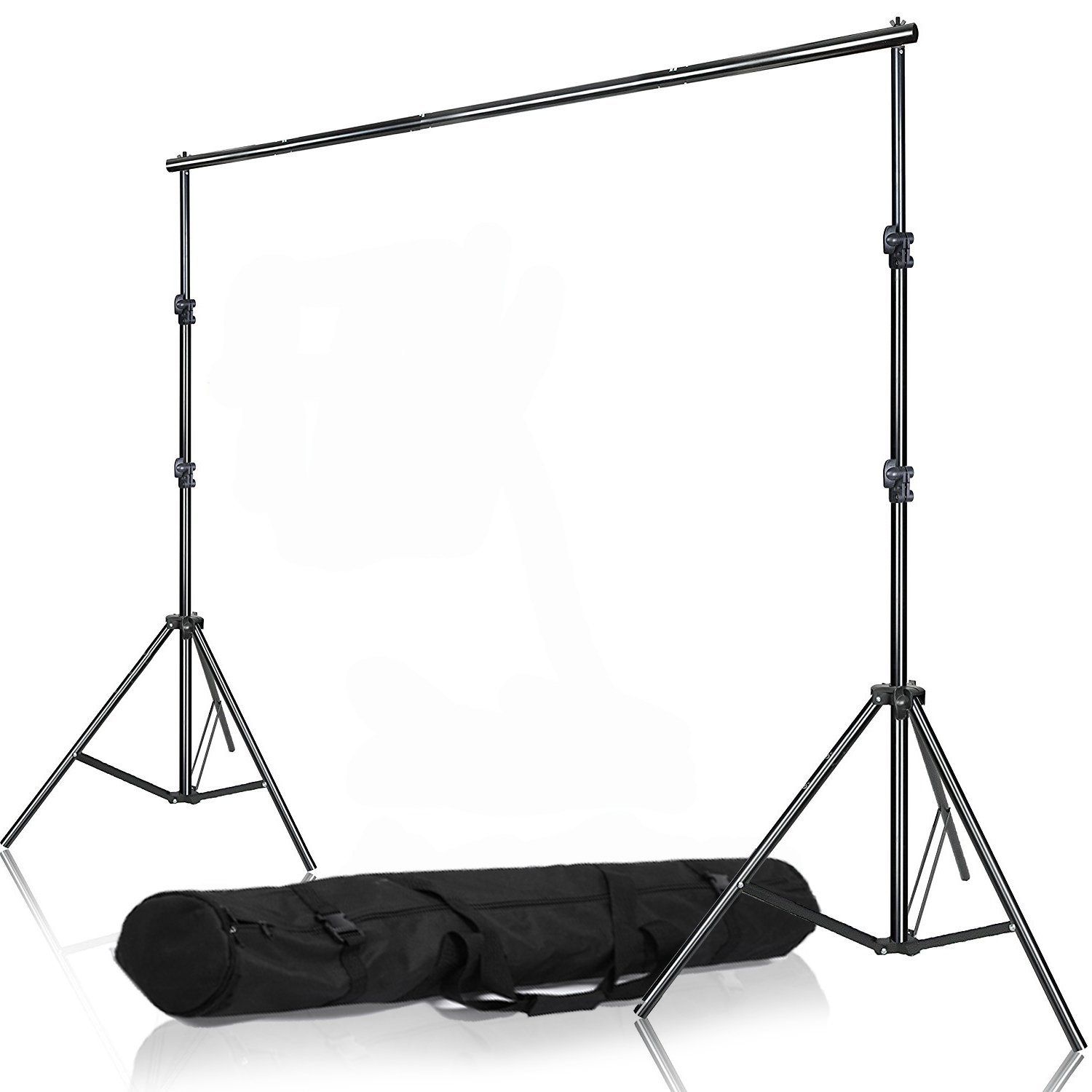 Selens Muslin Seamless Paper Background Backdrop Support System Kit Adjustable Stand & Crossbar with Carrying Bag for Photo and Video Studio, 6.56ft x 6.56ft / 2M x2M