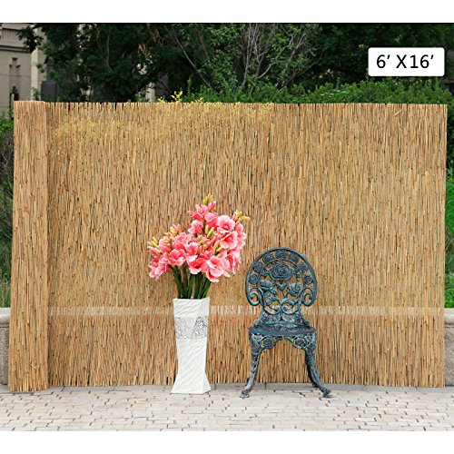 New MTN-G 6'X16' Reed Screening Garden Balcony Wind Protection Privacy Fencing Fence Panel