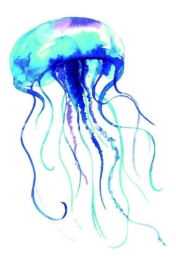 The Shutterstock Collection Medusas Acuarela ilustración. Medusa ...
