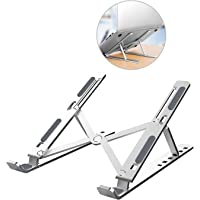 ZXK CO Laptop Stand, Aluminum Portable Computer Riser Tablet Stand Ergonomic Height Angle Adjustable Laptops Holder…