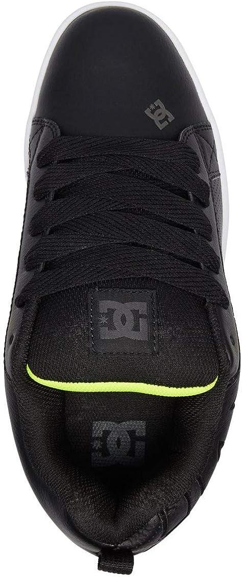 DC Men's Court Graffik Skate Shoe Noir Citron Vert